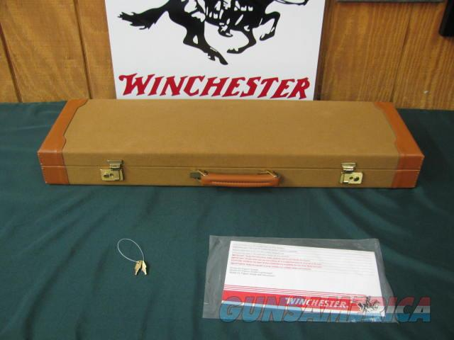 6707 Winchester 23 Golden Quail 20 gauge 26 inch barrels,ic/mod raised solid rib, ejectors, STRAIGHT GRIP,single selective trigger, quail/dogs engraved coin silver receiver, Winchester butt pad, Winchester Case, snap caps, keys, 99% conditi  Guns > Shotguns > Winchester Shotguns - Modern > SxS