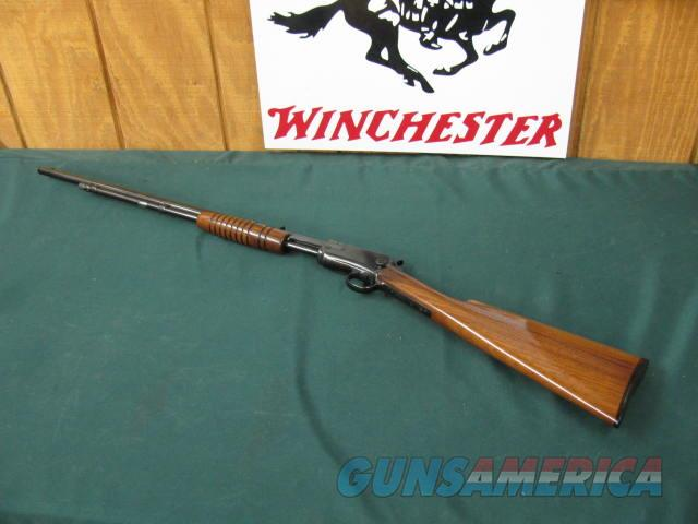 6279 Winchester 62 22 short mfg 1936 99% condition as professionally restored, bore is very good, wood and metal 99%,correct in every way. has the pre war short forend   Guns > Rifles > Winchester Rifles - Modern Pump