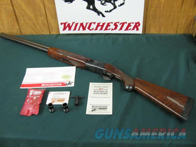 6210 Winchester 101 Waterfowler 12 gauge 30 inch barrels winchokes m im f xf,wrench pouch hang tag 2 pamphlets 97%, all original, Winchester butt pad,vent rib ejectors single trigger, A+Fancy Walnut.pistol grip with cap.great for hunting or  Guns > Shotguns > Winchester Shotguns - Modern > O/U > Hunting