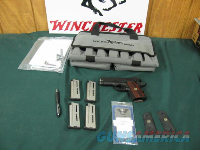 6242 Wilson Sentinel Combat compact 9mm steel frame coco bolo and original grips, nite sites, 4 mags,all papers and wrenches, Carry case, 99% condition.  Guns > Pistols > Wilson Combat Pistols