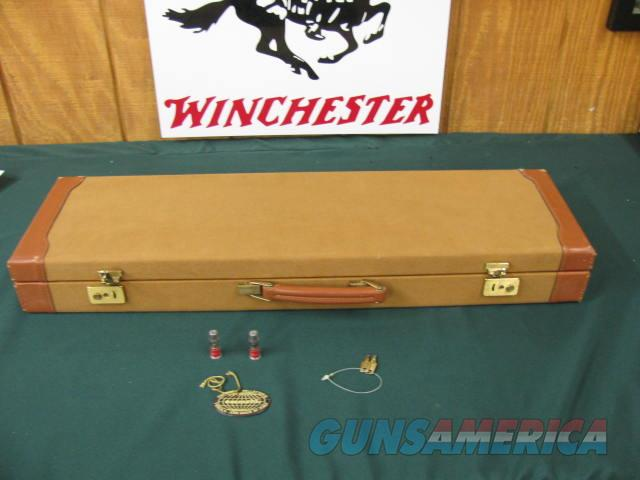 6392 Winchester 23 GOLDEN QUAIL 410ga  mod/full gauge 26 inch barrels, STRAIGHT GRIP, solid rib, ejectors, all original GOLDEN QUAIL CASE, AA++ fancy walnut, Winchester butt pad, single select trigger, mfg 1987. and only 500 were made.   Guns > Shotguns > Winchester Shotguns - Modern > SxS