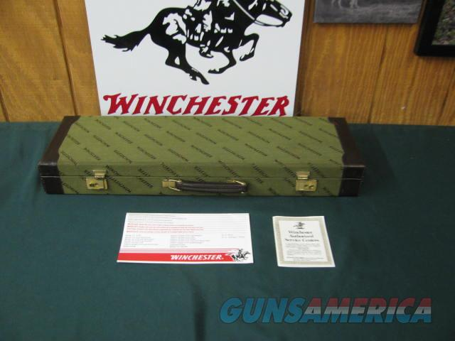 6746 Winchester 101 QUAIL SPECIAL 20 gauge 26 inch barrels ic/mod, vent rib, STRAIGHT GRIP, AAA++Fancy Walnut, quail/dogs engraved coin silver receiver, ejectors, all original, Winchester Quail Special case,brochure, #16 of 500 made. One of  Guns > Shotguns > Winchester Shotguns - Modern > O/U > Hunting
