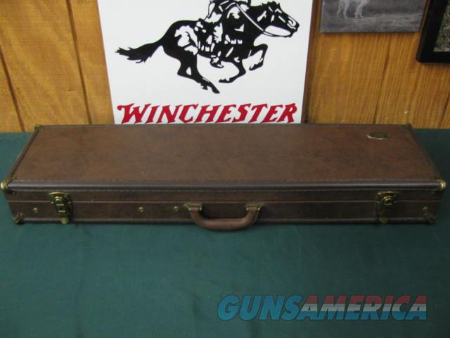 6738 Buffalo River Shotgun case  NEW will take 34 inch barrels, naughahyde with brass corners, inside is brown, has compartment for chokes etc.  Non-Guns > Gun Cases