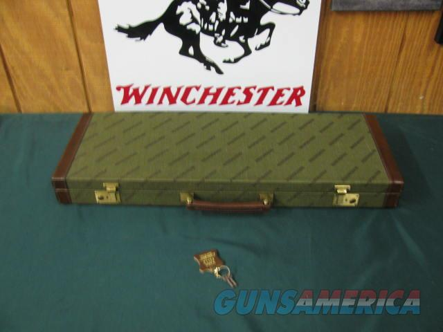 6750 Winchester 101 or 23 case will take 26 inch barrels,keys, leather trimmed.NEW OLD STOCK.  Non-Guns > Gun Cases