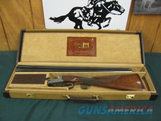 6821 Winchester 23 Golden Quail 28 gauge 26 inch barrels ic/mod,STRAIGHT GRIP, single select trigger, ejectors, solid rib, Winchester butt pad, Winchester correct case, only 500 mfg... this is #438. 97% condition, AA++Fancy Walnut.  Guns > Shotguns > Winchester Shotguns - Modern > SxS