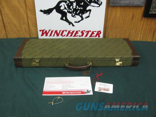 6763 Winchester 101 NATIONAL WILD TURKEY FOUNDATION CASE, will take 28.5 inc barrels, keys, HANG TAG CORRECT FOR NWTF, brochure, leather trim 98% condition. RARE TO FIND ,,,,, ONLY 300 MFG......  Non-Guns > Gun Cases