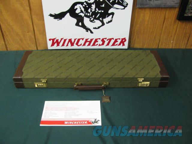6747 Winchester 101 QUAIL SPECIAL 410 gauge 26 inch barrels mod/full, vent rib, STRAIGHT GRIP, AAA++Fancy Walnut, quail/dogs engraved coin silver receiver, ejectors, all original, Winchester Quail Special case,brochure, #29 of 500 made. One  Guns > Shotguns > Winchester Shotguns - Modern > O/U > Hunting