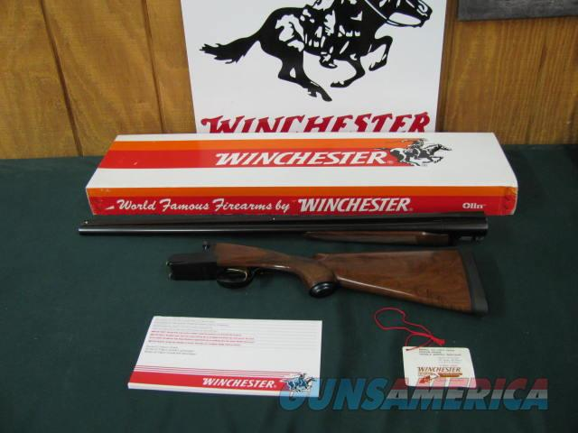 6287 Winchester 23 LIGHT DUCK 20 gauge 28 inch barrels 2 3/4 & 3 inch chambers,full/full,solid raise rib, only 500mfg, this is #50, NEW IN BOX, NEVER FIRED, HANG TAG AND PAPER, correct Winchester serialized box, A+FANCY WALNUT SOME ON THE F  Guns > Shotguns > Winchester Shotguns - Modern > SxS