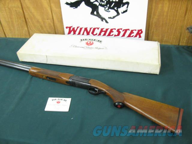6229 Ruger Red Label 20 gauge 28 inch barrels, rare ic/mod choke, all original, correct box and hang tag, 99.9% condition, not a mark on it. A Fancy Walnut, none finer.came from private collection.  Guns > Shotguns > Ruger Shotguns > Hunting