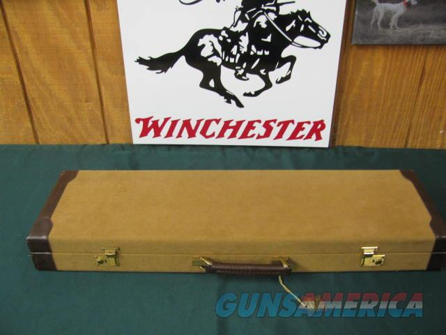 6710 Winchester Golden Quail 28 gauge 26 barrels, ic/mod,Winchester butt pad, single select trigger, auto ejectors, solid rib, STRAIGHT GRIP,AAA FANCY WALNUT, engraved quail/birds/dogs coin silver receiver. GOLD RAISED QUAIL HEAD on bottom   Guns > Shotguns > Winchester Shotguns - Modern > SxS