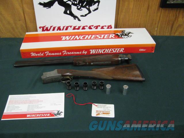 6748 Winchester 101 Quail Special 12 gauge 26 inch barrels 5 chokes ic m im 2 full 2 snap caps,AS NEW IN BOX, HANG TAG, AND BROCHURE, CORRECT BOX,ONLY 500 MADE THIS IS #343. single select trigger, ejectors, vent rib,dogs/QUAIL engraved coin  Guns > Shotguns > Winchester Shotguns - Modern > O/U > Hunting