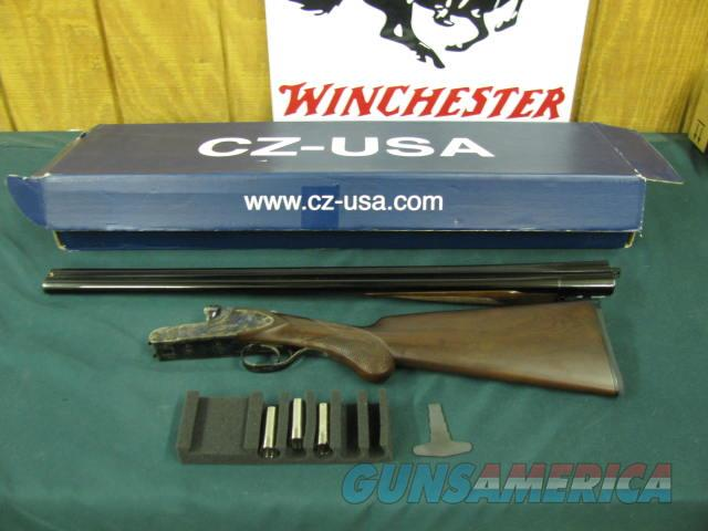 6205 CZ Ringneck 20gauge 28 inch barrels 5 chokes wrench round knob raised rib butt pad,sideplates, case colored receiver, extractors, schnabel forend,A+Fancy walnut, NEW IN BOX  Guns > Shotguns > CZ Shotguns
