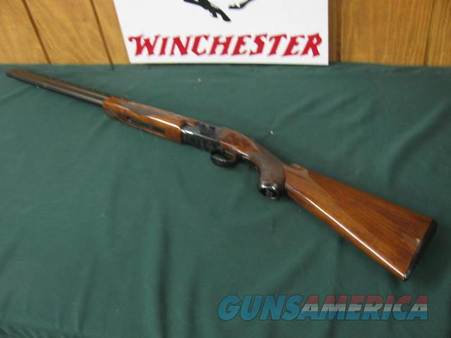 6589 Winchester 101 Field 20 gauge 28 inch barrels, mod/full, 2 3/4 & 3 inch chambers, RED W on pistol grip cap,first 3 years of mfg. Winchester butt plate, all original at 98% condition, ejectors, vent rib, bores brite/shiny, opens and clo  Guns > Shotguns > Winchester Shotguns - Modern > O/U > Hunting