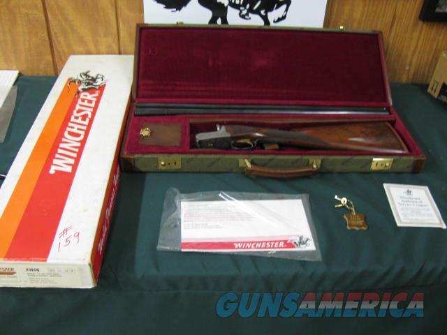 6539 Winchester 23 GOLDEN QUAIL 20 gauge 26 inch barrels ic/mod, solid rib, ejectors, STRAIGHT GRIP, Winchester butt pad, all original, 99% condition, quail pheasants dogs engraved coin silver receiver, single select trigger,AA+ Fancy Walnu  Guns > Shotguns > Winchester Shotguns - Modern > SxS