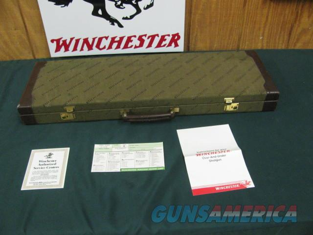 6768  Winchester 101 Pigeon Lightweight BABY FRAME 28 gauge 28 inch barrels, ic and mod,(rare choke for 28 inch barrels) vent rib,QUAIL/Birds engraved coin silver receiver, ejectors, Winchester pad, all original and hard to get,   Guns > Shotguns > Winchester Shotguns - Modern > O/U > Hunting