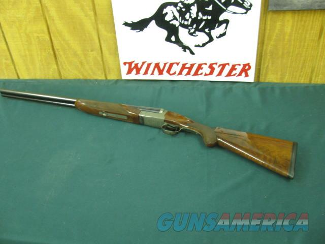 6133 Winchester 23 Pigeon XTR 20 gauge 26 barrels, ic/mod, AA++Fancy Walnut, round knob, butt pad,vent rib, single select trigger,rose and scroll engraved coin silver,2 3/4 & 3 inch chambers, FANCY WALNUT.99% CONDITION  Guns > Shotguns > Winchester Shotguns - Modern > SxS