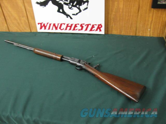 6390 Winchester 62A 22 short long long rifle, all original condition, excellent conditon,Marbles tang site, original Winchester butt plate, operates tite, bores are excellent. s/n13626x. pre war mfg 1941-1942.  Guns > Rifles > Winchester Rifles - Modern Pump