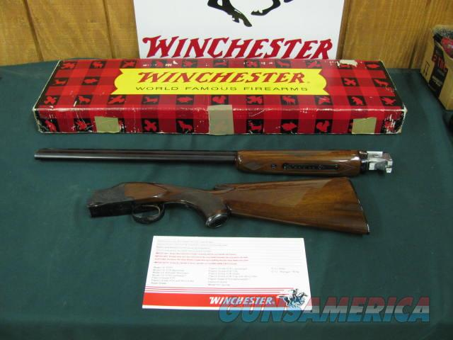 6217 Winchester 101 Field 28 gauge 28 inch barrels skeet/skeet vent rib, pistol grip,Winchester butt plate, Winchester pamphlet, correct Winchester box serialized to gun. NEVER SHOT--UNFIRED--100% CONDITION NONE FINER.rare  Guns > Shotguns > Winchester Shotguns - Modern > O/U > Hunting