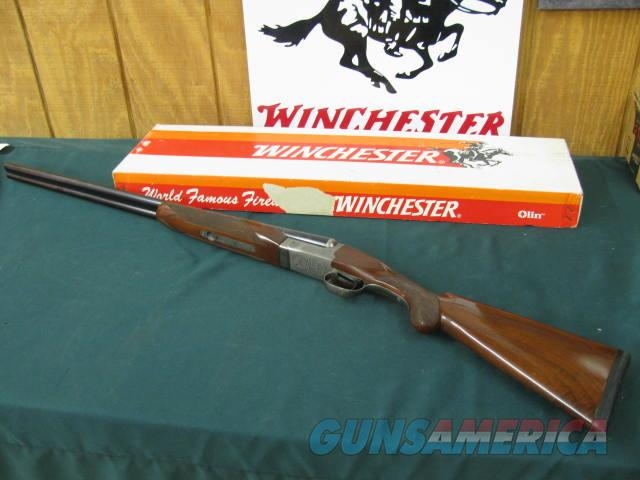 6314 Winchester 23 Pigeon XTR 20 gauge, 28 inch barrels, mod/full, rose and scroll engraved receiver,ejectors,vent rib, single select trigger, round knob, vent rib, Winchester butt pad, all original, Correct Winbox serialized to the gun.97-  Guns > Shotguns > Winchester Shotguns - Modern > SxS