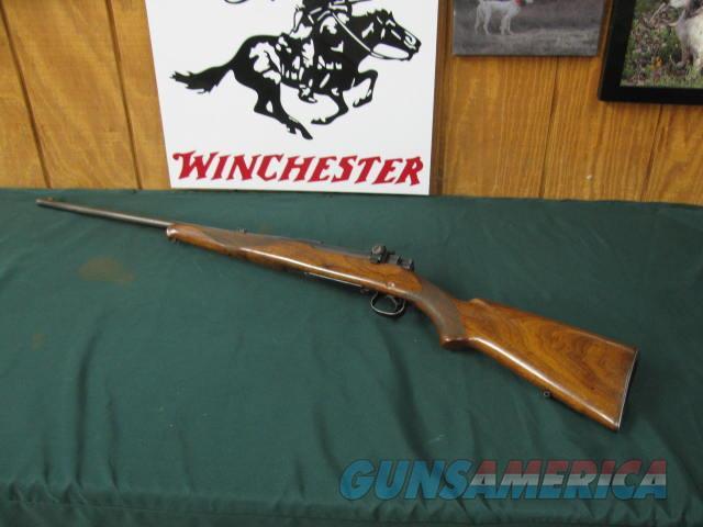 6676 Winchester model 54 30-06 Nickel steel barrel 24 inch, 48 W peep site, steel butt, bore brite shiny, mfg 1928 , 2 flip mid sites. nice condition.s/n 1418x  Guns > Rifles > Winchester Rifles - Modern Bolt/Auto/Single