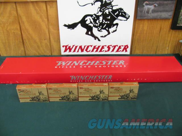 6091 Winchester 1895 405 caliber 24 inch barrels, CASE COLORED RECEIVER,--TEX95 is part of serial number-very unusual, buckhorn site,lever action,NEW IN BOX,80 rounds of Hornady AMMO,checkerd stock and forend, a real beauty  Guns > Rifles > Winchester Rifles - Modern Lever > Other Lever > Post-64