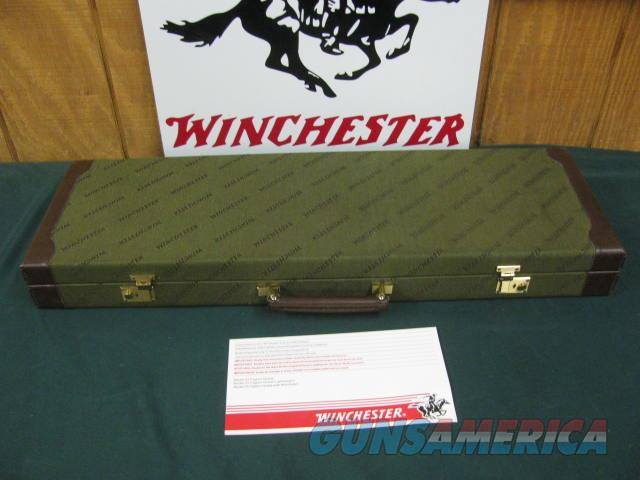 6854 Winchester 23 Pigeon XTR 12 gauge 26 barrels,2 winchokes screw in ic/mod,vent rib round knob ejectors single select trigger, rose and scroll engraved coin silver receiver,Winchester pad,case,pamphlet, 99% conditon, AAA+++FANCY TIGER ST  Guns > Shotguns > Winchester Shotguns - Modern > SxS