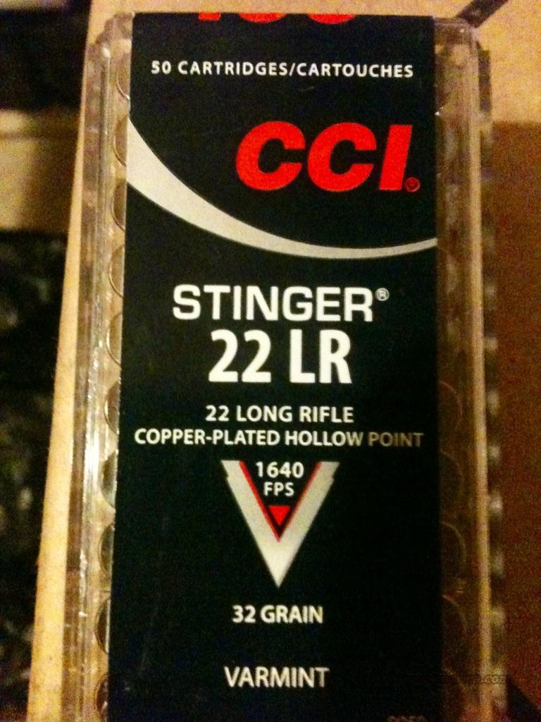 CCI stingers 22 caliber ammunition 1640 FPS (50rounds)  Non-Guns > Ammunition