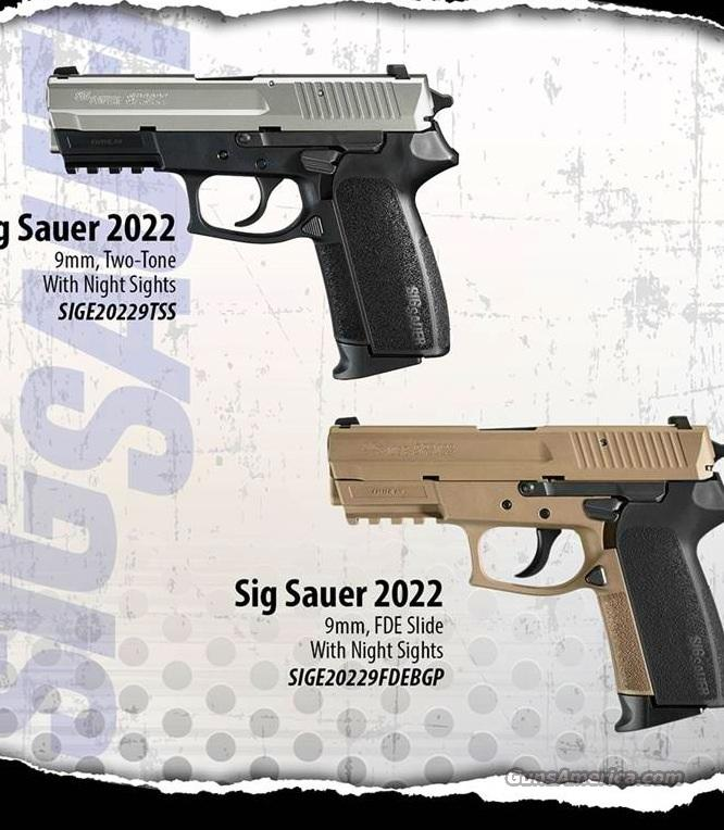 Sig 2022 two tone (stainless steel slide) 9mm  Guns > Pistols > Sig - Sauer/Sigarms Pistols > 2022