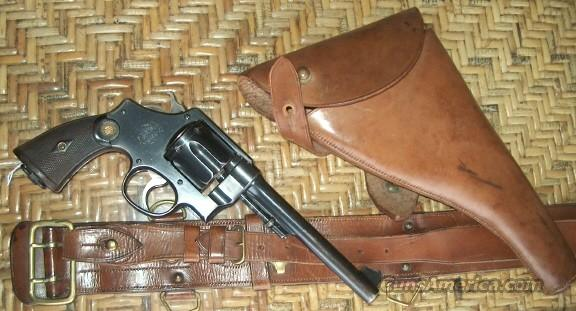 IDENTIFIED BRITISH OFFICERS WWI 2ND MOD HAND EJECTOR MKII COMBAT RIG  Guns > Pistols > Smith & Wesson Revolvers > Pre-1945