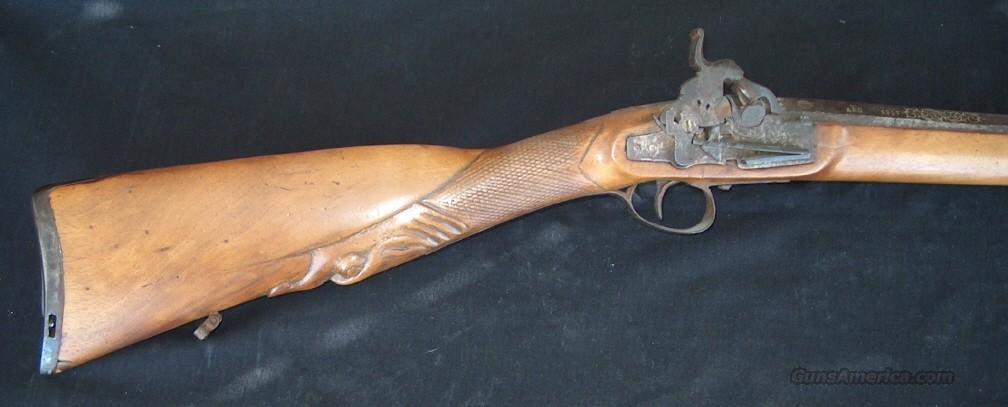 FANCY JOSE BEISTEGUI SPANISH MIGULET SMOOTHBORE PERCUSSION RIFLE  Guns > Rifles > Muzzleloading Pre-1899 Rifles (perc)