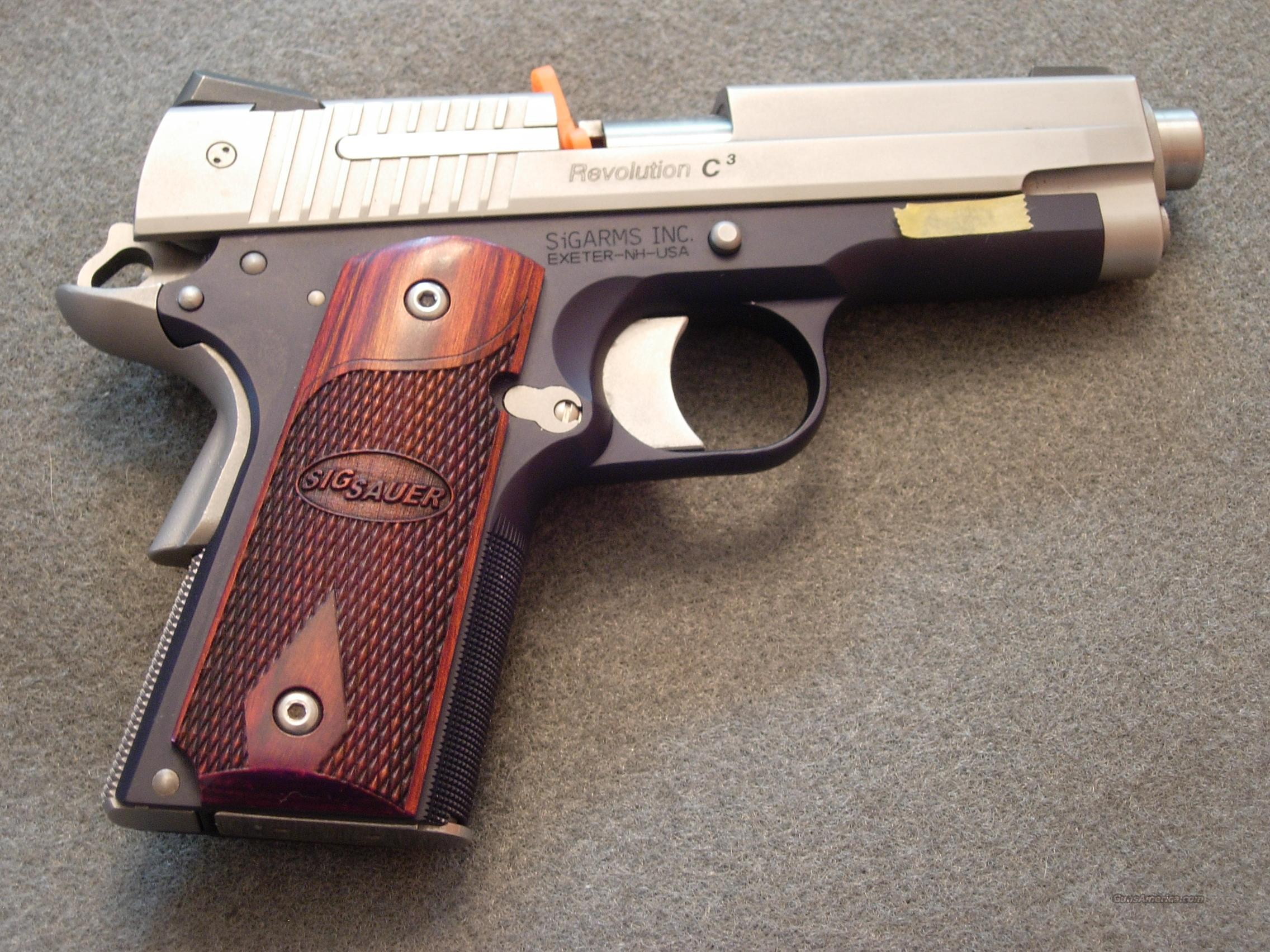 SIGARMS REVOLUTION C3  .45 ACP  Guns > Pistols > Sig - Sauer/Sigarms Pistols > 1911