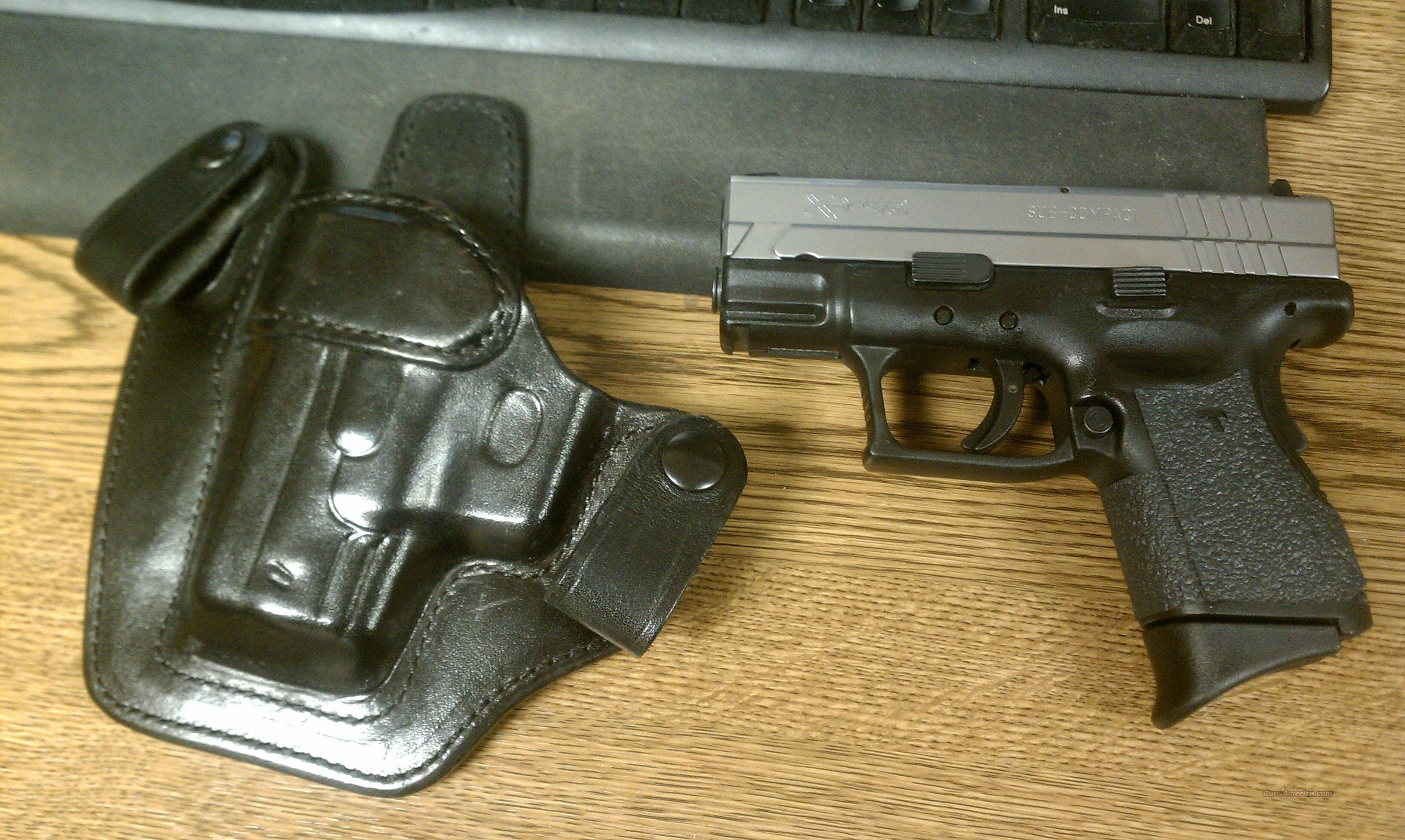 Milt Sparks Springfield XD Sub Compact Left Hand Holster  Non-Guns > Holsters and Gunleather > Concealed Carry