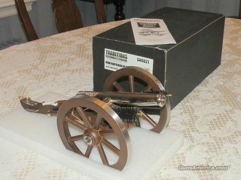 Traditions, Mini Napoleon III Cannon - Nickel  Guns > Rifles > Traditions Rifles