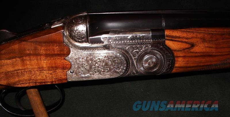 BERETTA CUSTOM AS-EL SCALLOPED BOXLOCK 12GA O/U SHOTGUN  Guns > Shotguns > Beretta Shotguns > O/U > Hunting