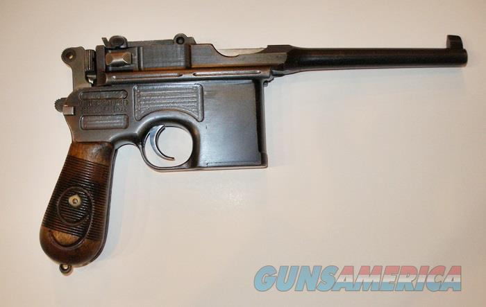 MAUSER BROOMHANDLE C96 RED 9 9MM LUGER PISTOL  Guns > Pistols > Mauser Pistols