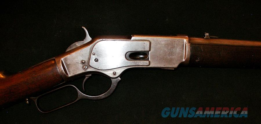 WINCHESTER 1873 SADDLE RING CARBINE 44 RIMFIRE- 1ST MODEL   Guns > Rifles > Winchester Rifles - Pre-1899 Lever