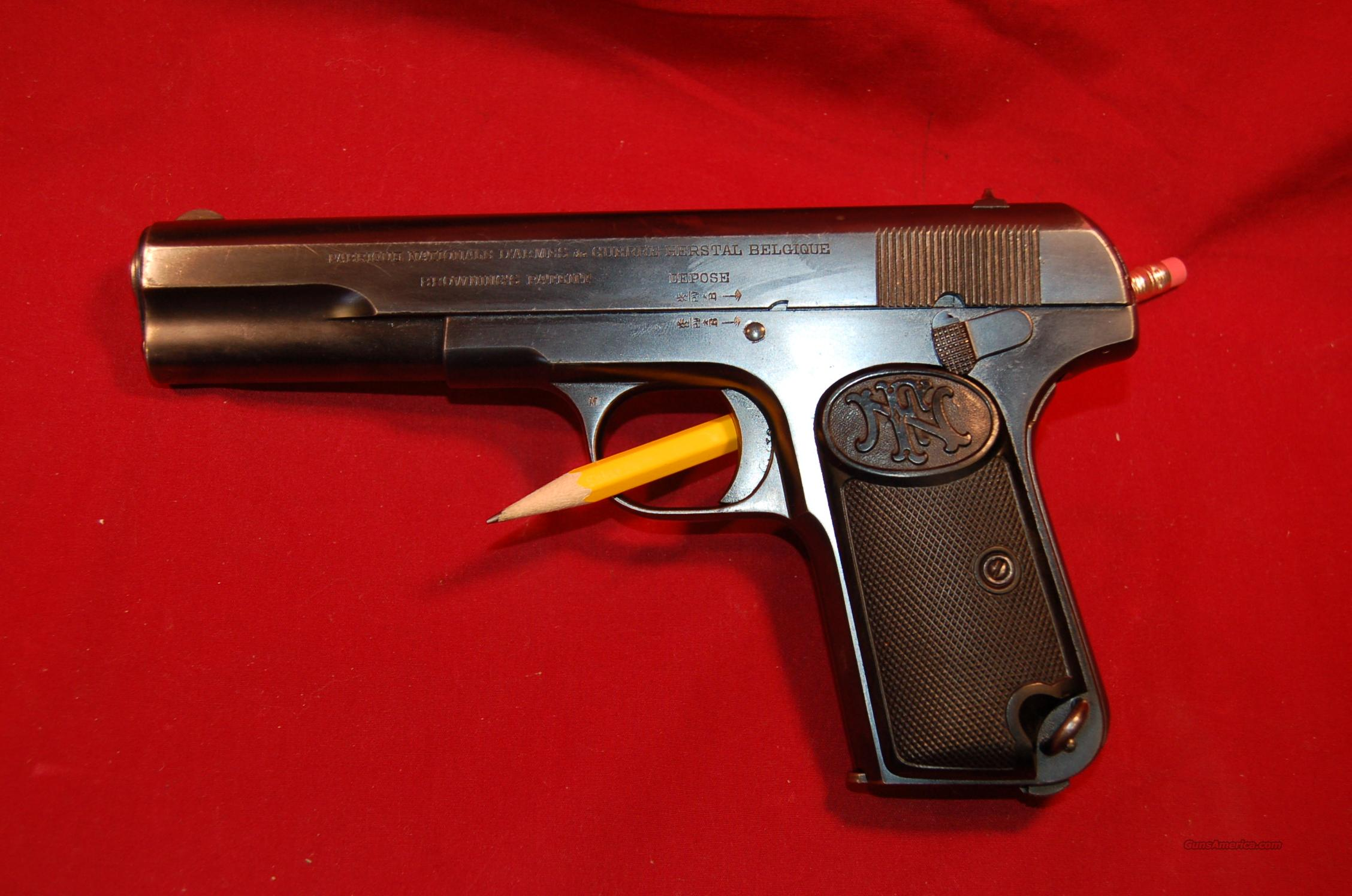 Fn Produced Browning Patent 1903 Commercial For Sale