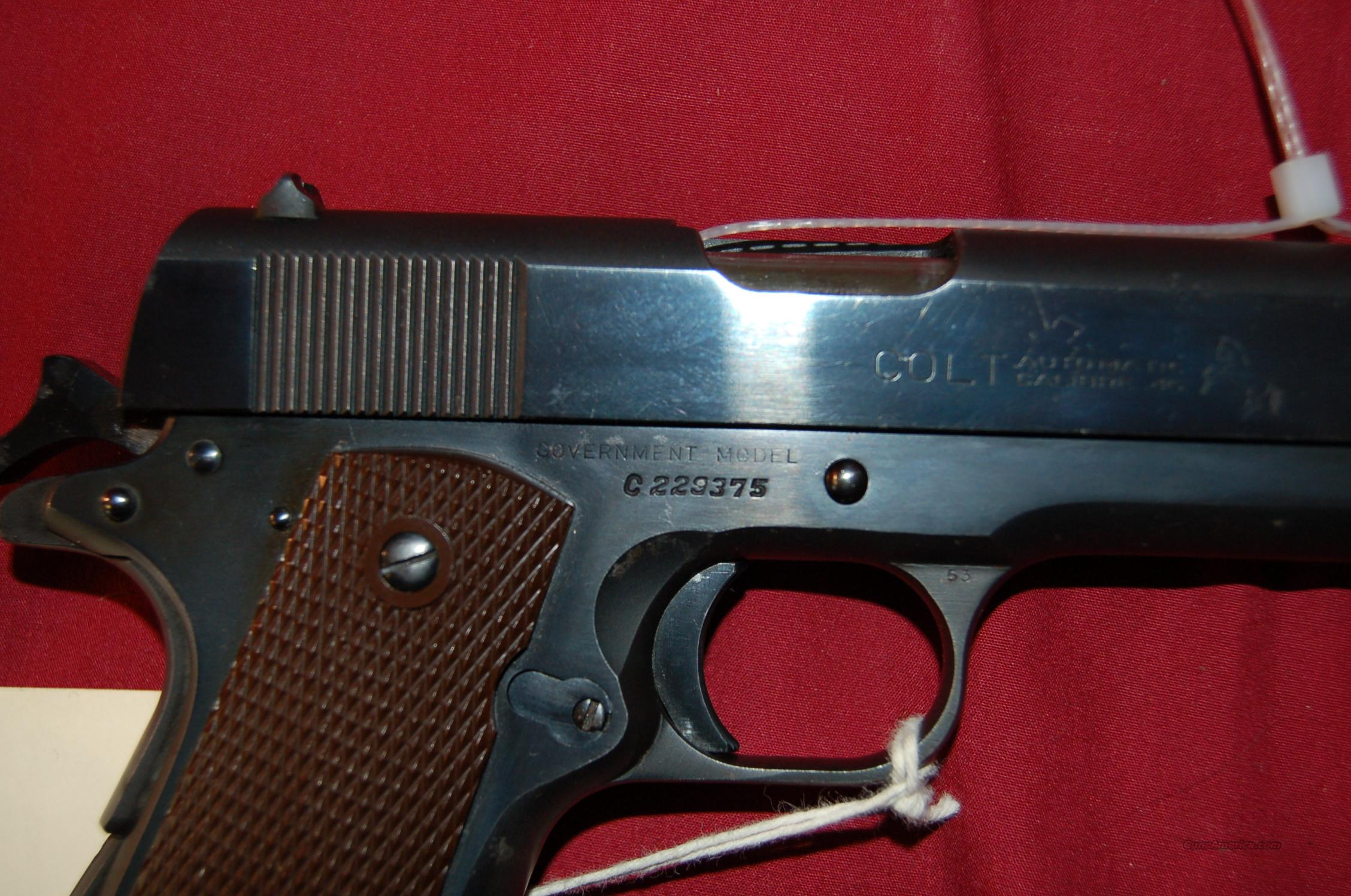 Colt Commercial Goverment Model 1911 .45 ACP  Guns > Pistols > Colt Automatic Pistols (1911 & Var)