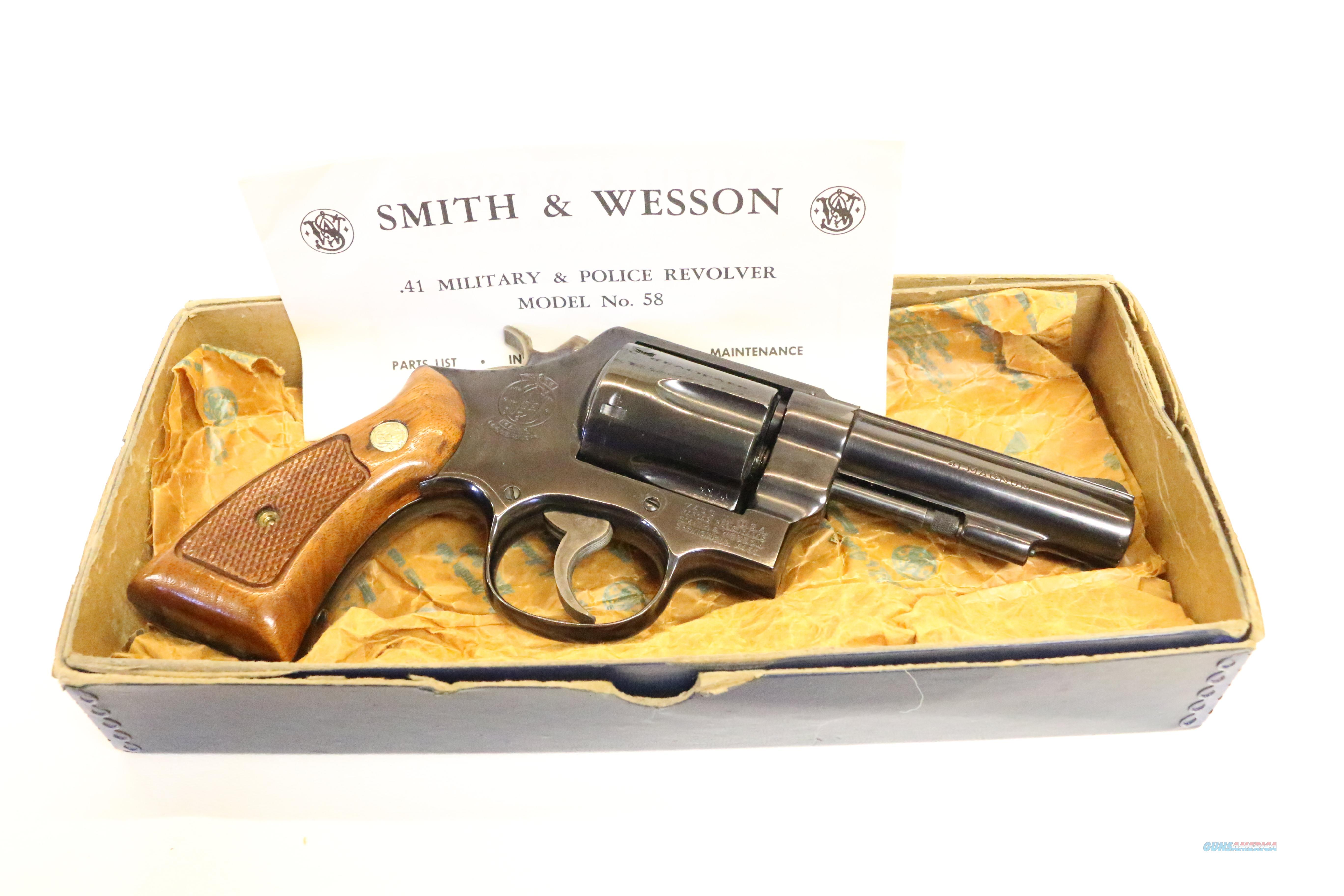 Excellent Condition Smith & Wesson Model 58 with original box and papers  Guns > Pistols > Smith & Wesson Revolvers > Full Frame Revolver