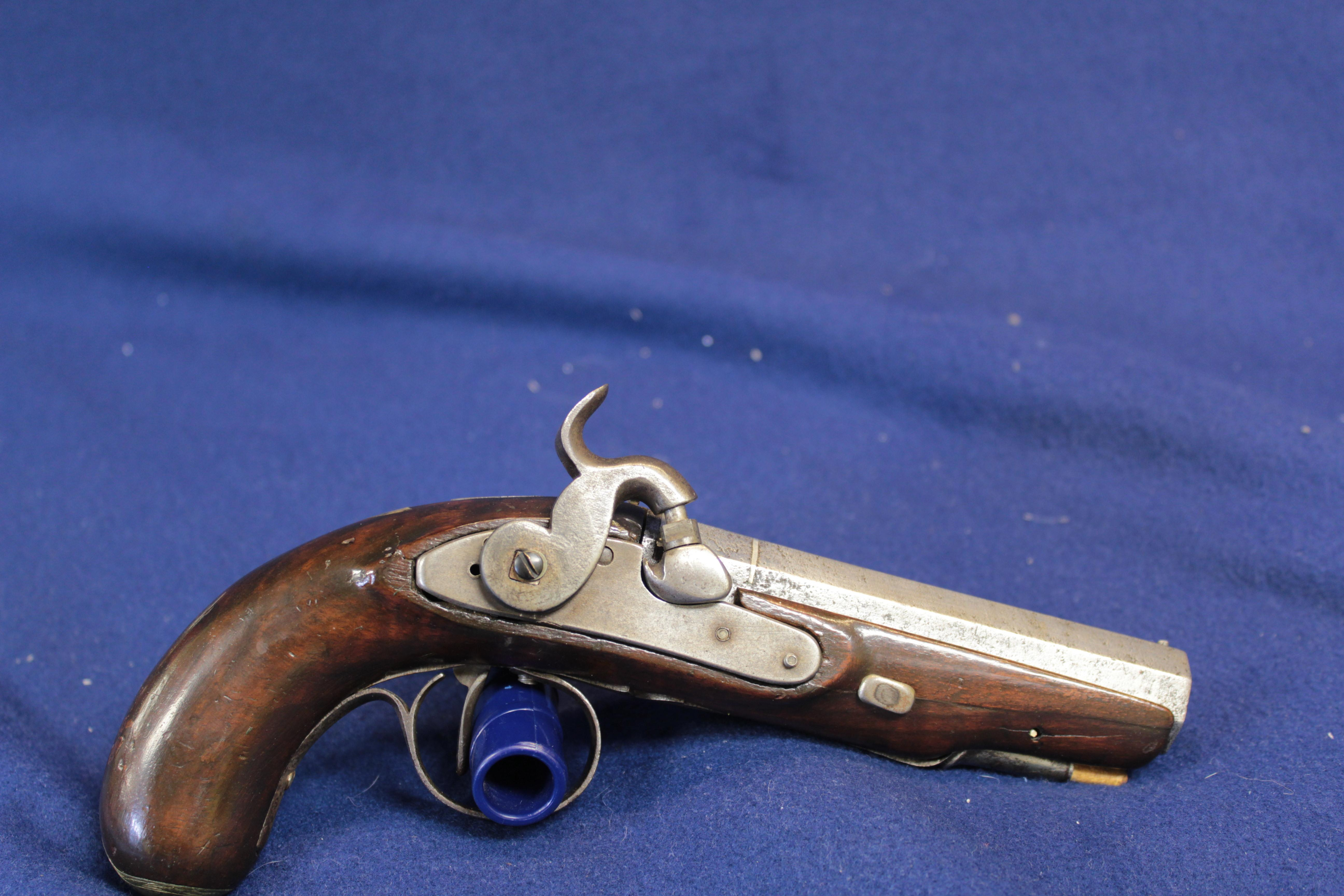 Wm Pattison Ireland Percussion Pistol  Guns > Pistols > Antique (Pre-1899) Pistols - Perc. Misc.