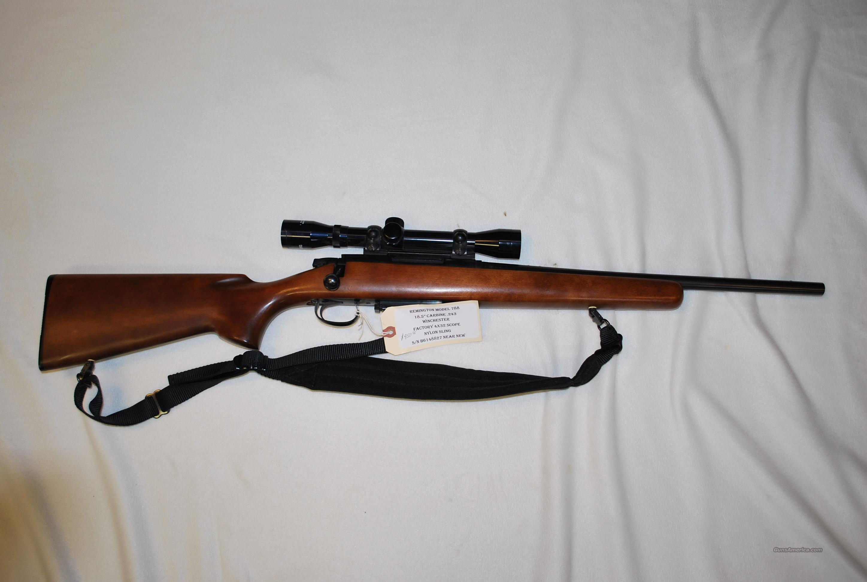 Model 788 .243 Carbine near new  Guns > Rifles > Remington Rifles - Modern > Model 700 > Sporting