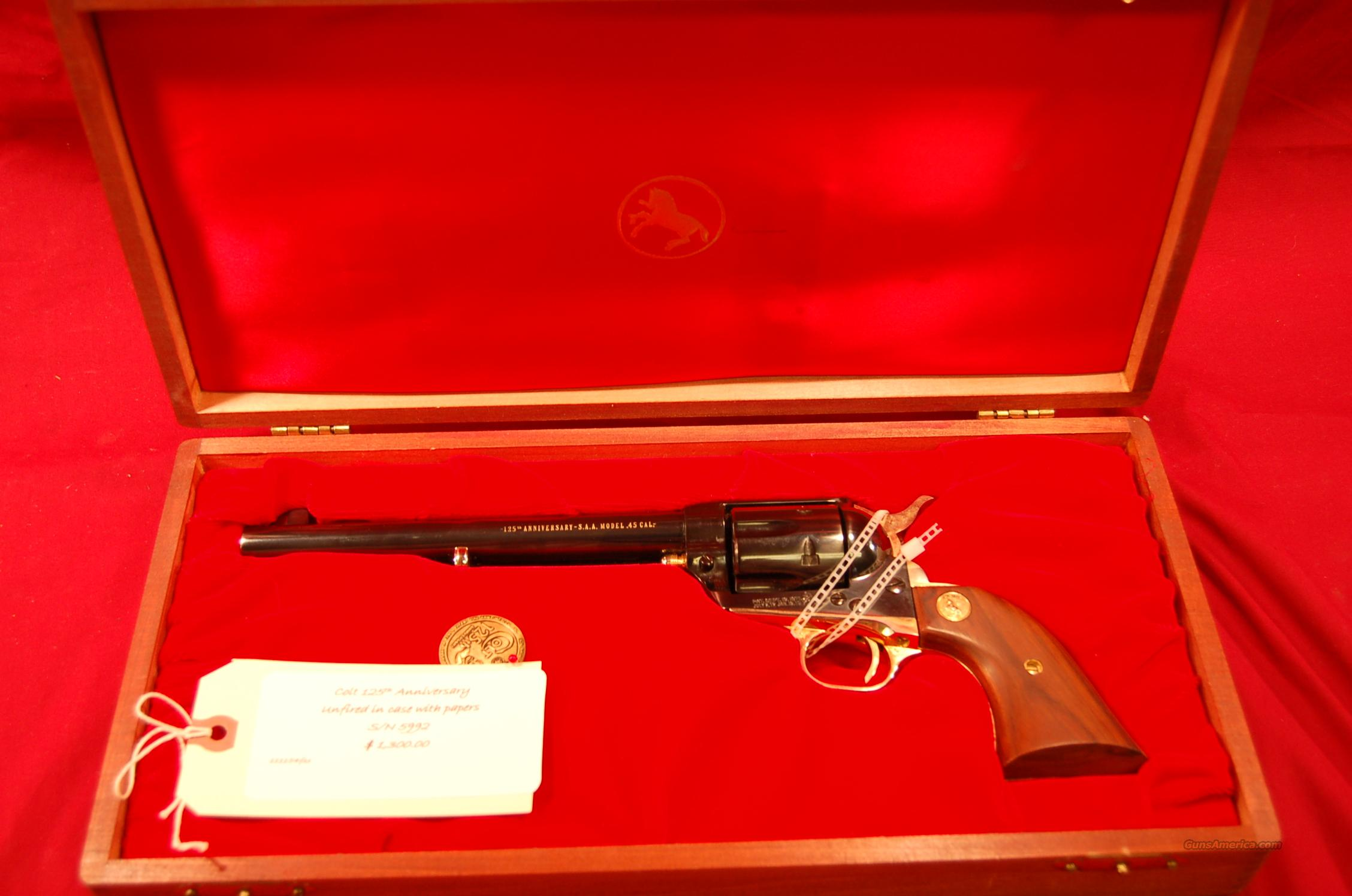 Colt 125th Unfired in case with papers  Guns > Pistols > Colt Commemorative Pistols