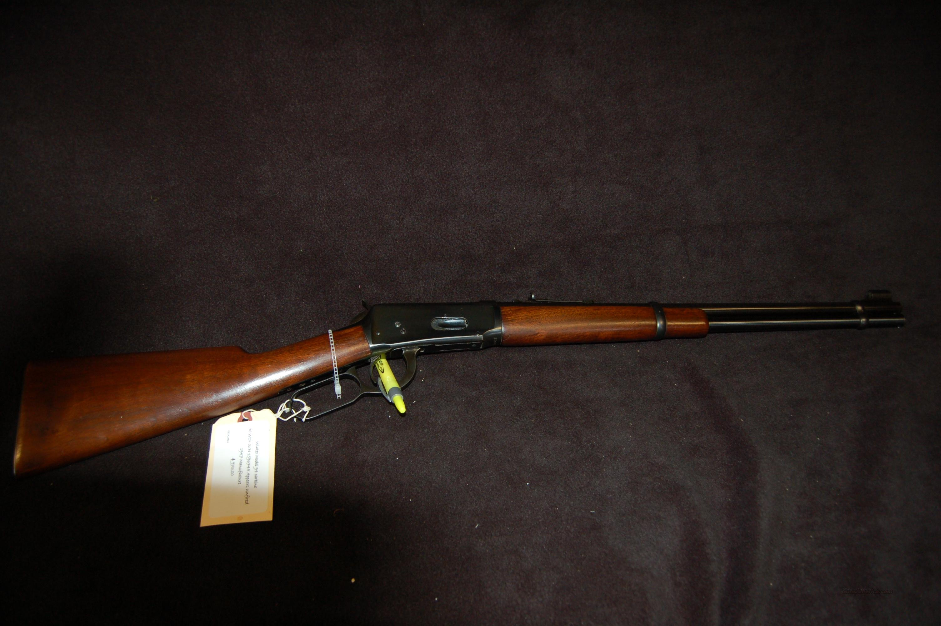 1948 Vintage Mint Condition 94  Guns > Rifles > Winchester Rifles - Modern Lever > Model 94 > Pre-64