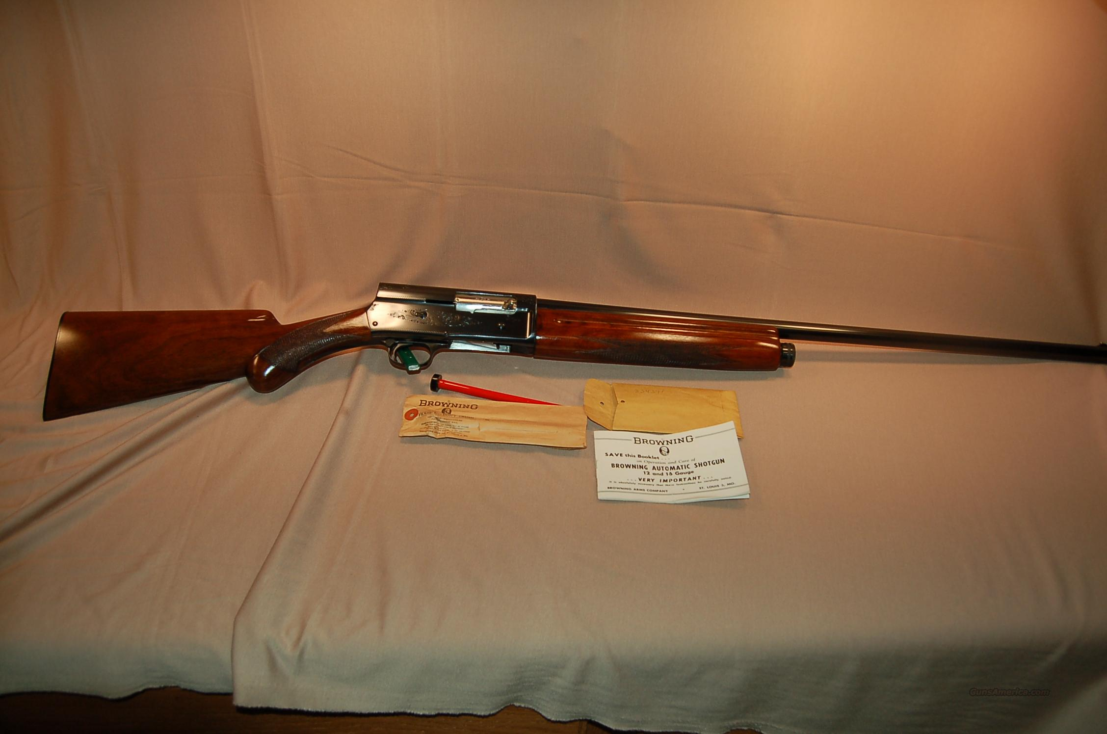 Mint Early 50's A5 with extras 12 gauge  Guns > Shotguns > Browning Shotguns > Autoloaders > Hunting