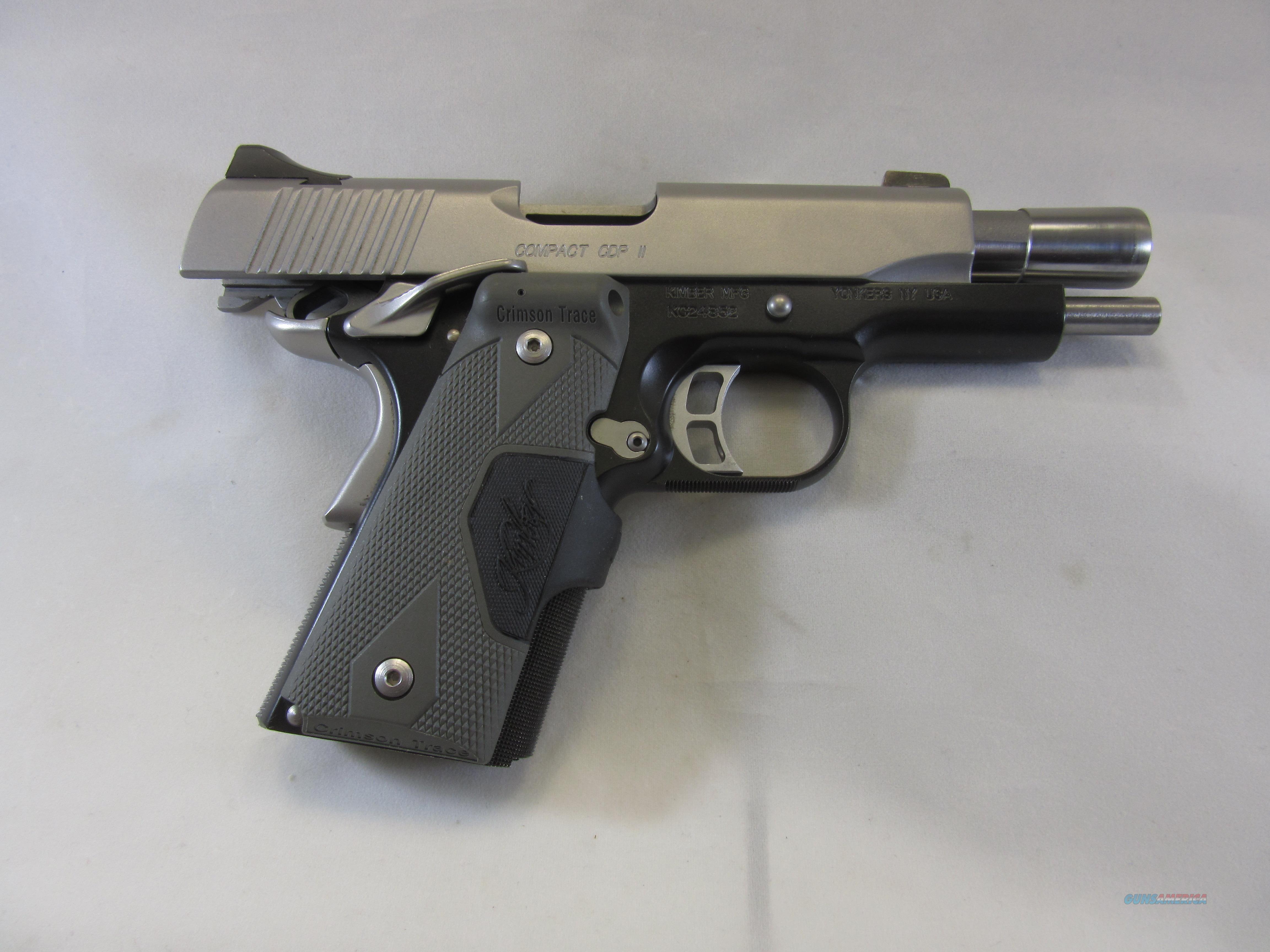 KIMBER COMPACT CDP II w/CRIMSON TRACE  Guns > Pistols > Kimber of America Pistols > 1911