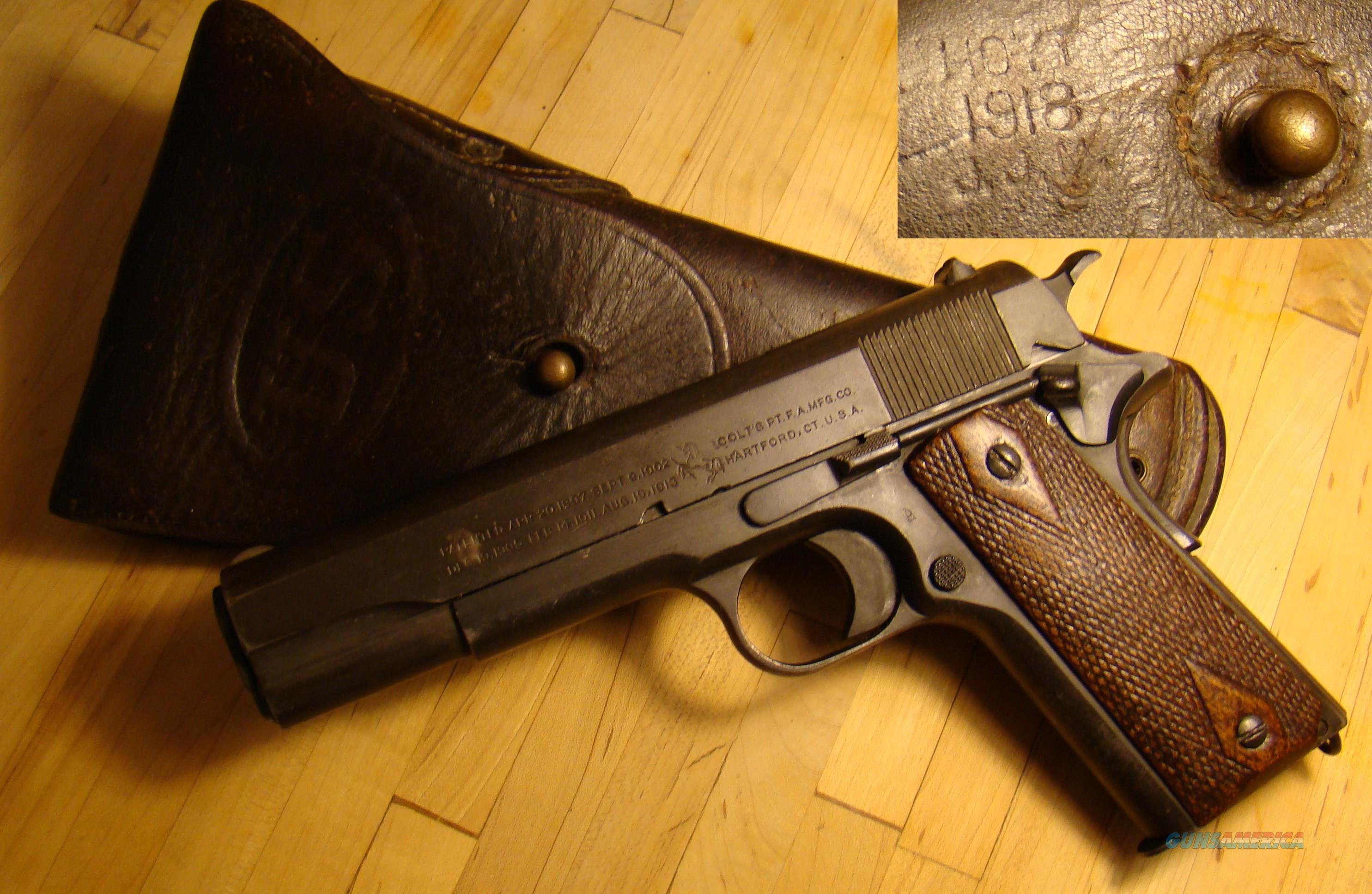 Colt 1911 .45 WWI 1918 Mfctr..with 1918 holster  Guns > Pistols > Colt Automatic Pistols (1911 & Var)