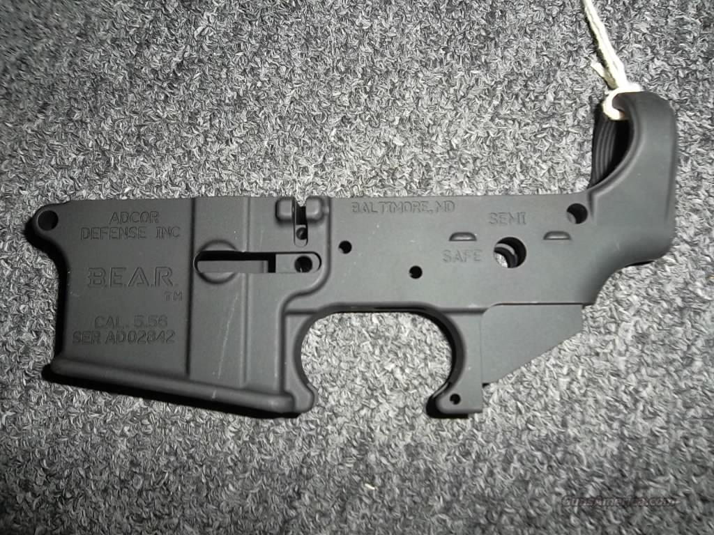 ADCOR Defense BEAR lower only  Guns > Rifles > AR-15 Rifles - Small Manufacturers > Lower Only