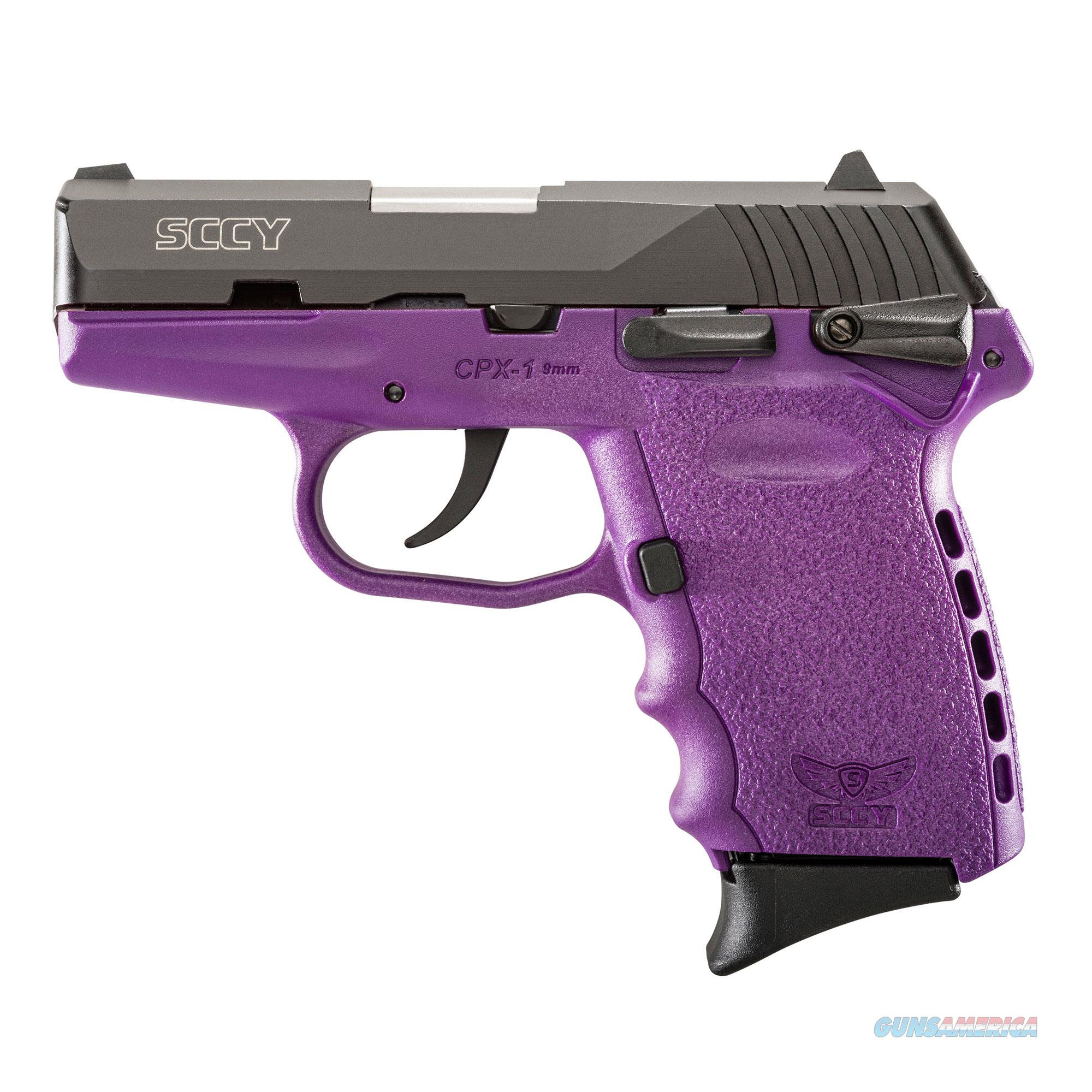 SCCY CPX-1 9MM MATTE / PURPLE 10 +1 CAPACITY NEW IN BOX  Guns > Pistols > SCCY Pistols > CPX1
