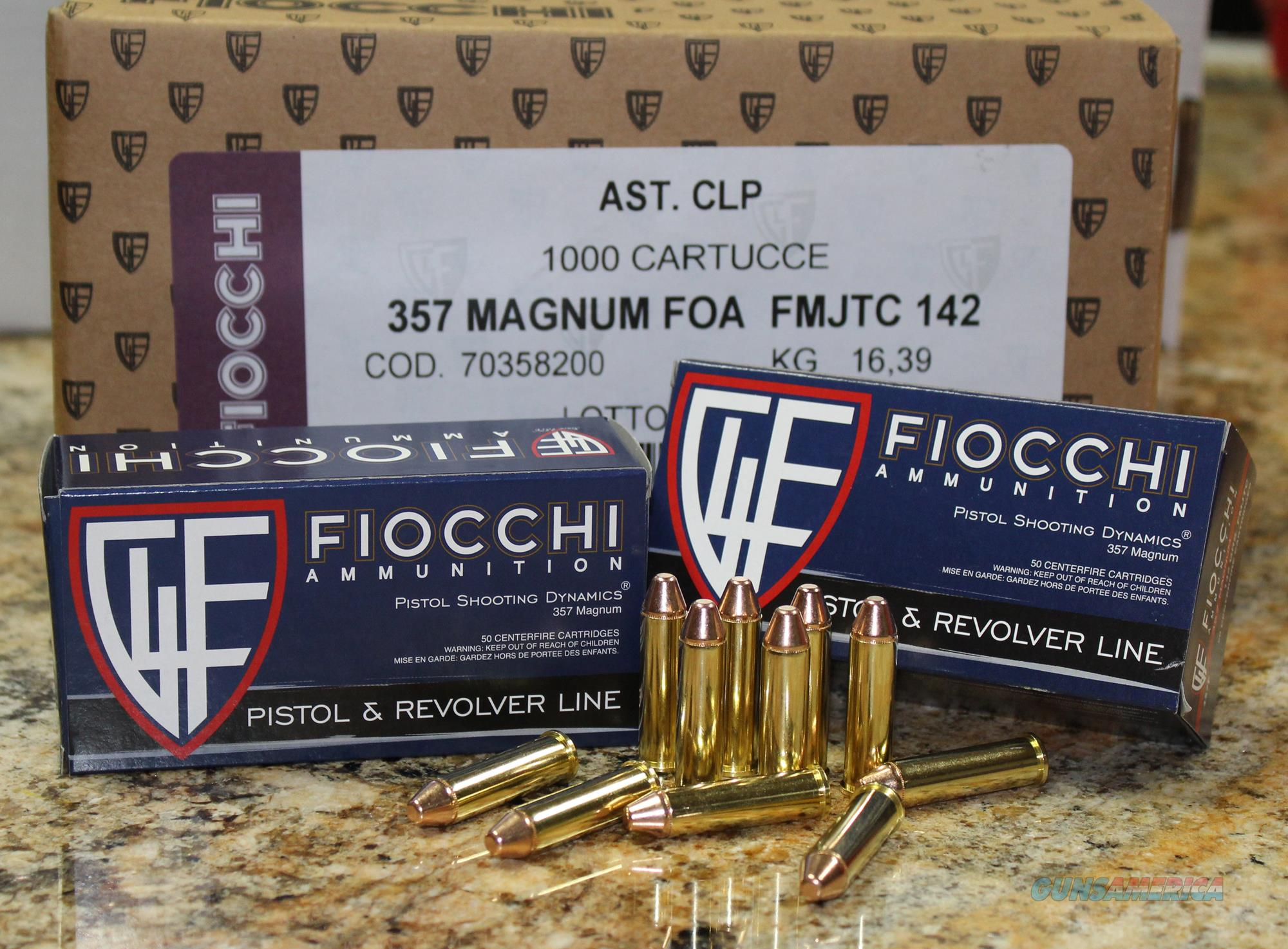 FIOCCHI SHOOTING DYNAMICS 357 MAGNUM 142 GRS FMJ 1000 ROUND CASE  Non-Guns > Ammunition
