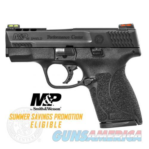 "SMITH & WESSON #11629 M&P 45 SHIELD 45ACP 3.3"" PORTED HI VIZ FIBER OPTIC SIGHT NEW IN BOX  Guns > Pistols > Smith & Wesson Pistols - Autos > Polymer Frame"